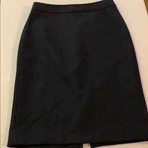 J Crew Black Wool No2 Pencil Skirt